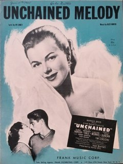 Unchained Melody 1955 song with music by Alex North and lyrics by Hy Zaret