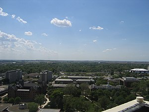 Watterson Towers - Campus View, from the Informal Level at the top of Watterson Towers