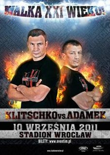 Vitali Klitschko vs. Tomasz Adamek Boxing competition