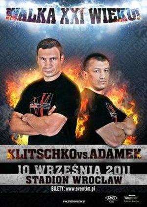 Vitali Klitschko vs. Tomasz Adamek - Image: Vitali Klitschko vs. Tomasz Adamek