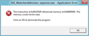 Segmentation fault - A null pointer dereference on Windows 8