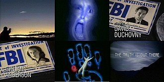 The X-Files - Shots from the show's original and current opening credit sequence
