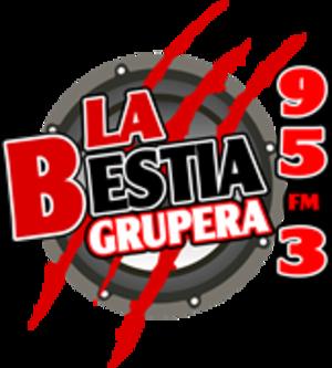 XHEVP-FM - Image: XHEVP La Bestia Grupera 95.3 logo