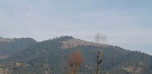 Akingam - A view of Zoon mall (mountain) from  Akingam village