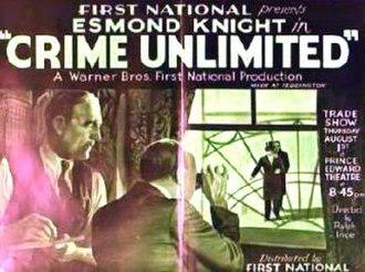 """Crime Unlimited - Image: """"Crime Unlimited"""" (1935)"""