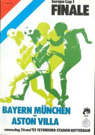 1982 European Cup Final - Image: 1982 European Cup Final programme