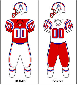 1991 New England Patriots season - Image: AFC 1991 1992 Uniform NE