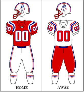 1992 New England Patriots season - Image: AFC 1991 1992 Uniform NE