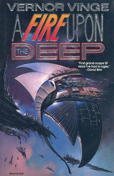 Picture of a book: A Fire Upon The Deep