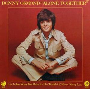 Alone Together (Donny Osmond album) - Image: Alonetogether 1973