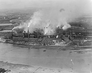 Barrow Hematite Steel Company - The steelworks as they appeared in 1920