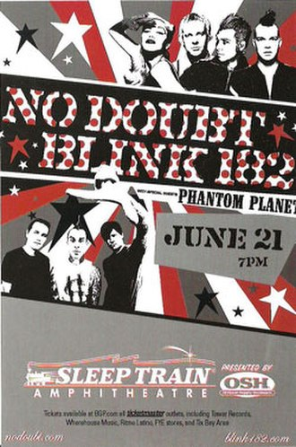 Summer Tour 2004 (Blink-182 and No Doubt) - Promotional poster of the tour