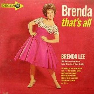 Brenda, That's All - Image: Brenda Lee Brenda That's All