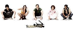 Calefare - The cast of Calefare. From left to right: Benjamin Heng, Fiona Xie, Gurmit Singh, Mastura Ahmad and Vadi Pvss