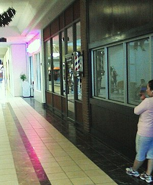 Cape Cod Mall - Cape Cod Mall barbershop, one of the original tenants of the mall now closed