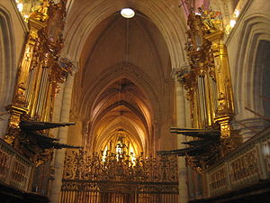 The Valley of Gwangi - Interior of Cuenca Cathedral where the movie's climax takes place.