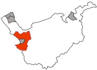 Chester Rural District - Chester Rural District shown within the administrative county of Cheshire in 1974. The rural district is shown in red, county boroughs associated with Cheshire in grey.