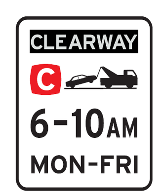 Clearway - Example of a Clearway sign in New South Wales