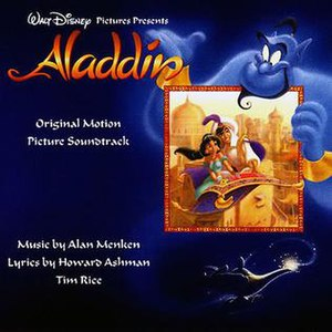Aladdin (soundtrack) - Image: Disney's Aladdin soundtrack cover