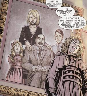 Dollhouse as she appears in the panel of a comic book
