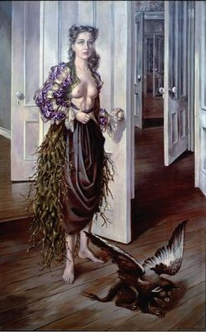 Dorothea Tanning - Dorothea Tanning, Birthday, 1942, oil on canvas, 40 1/4 x 25 1/2 in./102.2 x 64.8 cm, Philadelphia Museum of Art. ©The Estate of Dorothea Tanning