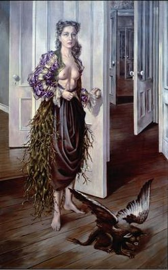 Dorothea Tanning - Dorothea Tanning, Birthday, 1942, oil on canvas, 40 1/4 x 25 1/2 in./102.2 x 64.8 cm, Philadelphia Museum of Art. ©The Estate of Dorothea Tanning