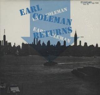<i>Earl Coleman Returns</i> 1956 studio album by Earl Coleman