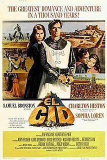<i>El Cid</i> (film) 1961 biographic history movie on the Spanish hero of the reconquista, El Cid