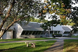 Hampshire College - Emily Dickinson Hall, designed by the architecture firm of former faculty member Norton Juster, houses much of the humanities, creative writing, and theatre