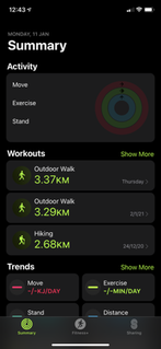 Fitness (Apple) Mobile application developed by Apple