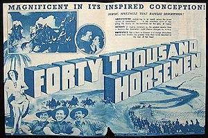 Forty Thousand Horsemen - Image: Forty Thousand Horsemen