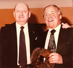Francis Essex - Francis Essex (Right) pictured receiving Leonard Brett Award (1981) from Lew Grade