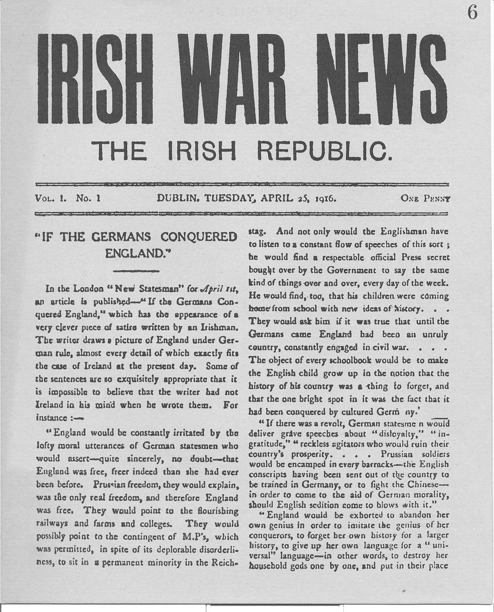 Front Page Irish War News