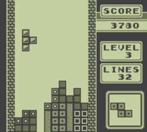 Tetris (Game Boy) - Tetris gameplay