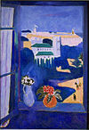 Henri Matisse, 1911-12, La Fenêtre à Tanger (Paysage vu d'une fenêtre Landscape viewed from a window, Tangiers), oil on canvas, 115 x 80 cm, Pushkin Museum.jpg