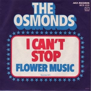 I Can't Stop (The Osmonds song) - Image: Icantstopsong