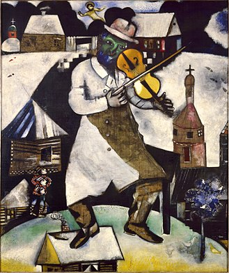 Fiddler on the Roof - The Fiddler by Marc Chagall, from which the musical takes its name