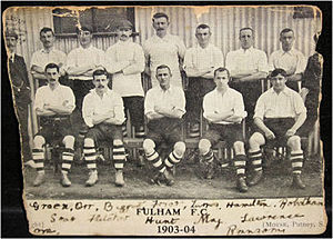 Fulham F.C. - Postcard of the 1903–04 line-up