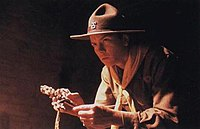 River Phoenix as young Indiana Jones in the 1989 movie Indiana Jones and the Last Crusade.