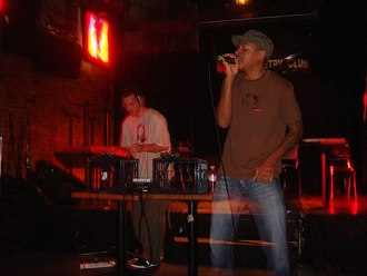 Joe Beats - Joe Beats (left) and Blak (right) performing live