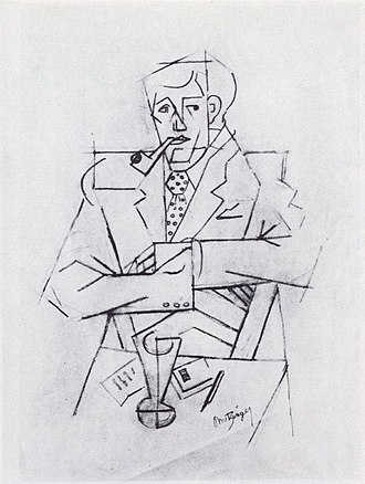 Guillaume Apollinaire - Jean Metzinger, 1911, Étude pour le portrait de Guillaume Apollinaire, graphite on paper, 48 × 31.2 cm, Musée National d'Art Moderne, Centre Georges Pompidou, Paris