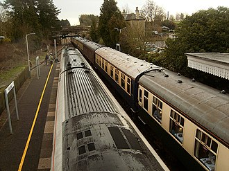 Kemble railway station - Looking towards Swindon
