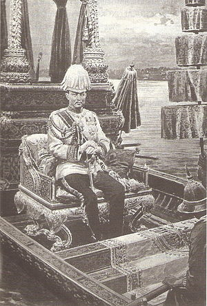 Royal Barge Procession - King Chulalongkorn on Royal Barge Suphannahong.
