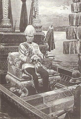 Royal Barge Procession - King Chulalongkorn on Royal Barge Suphannahong.