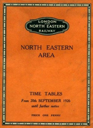 London and North Eastern Railway - Timetable for Autumn 1926 detailing the resumption of services after the General Strike