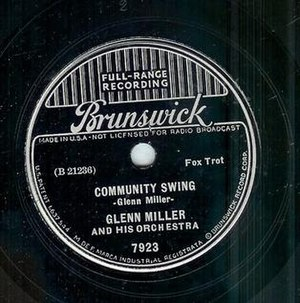 Community Swing - 1937 Brunswick 78, 7923.