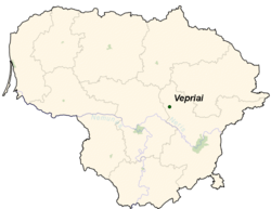 Location of Vepriai