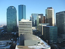 Edmonton's downtown core