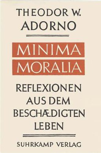 Minima Moralia - Cover of the German edition