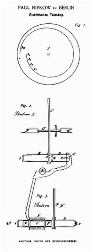 Paul Gottlieb Nipkow - Nipkow's 'disc' from the patent application of 1884